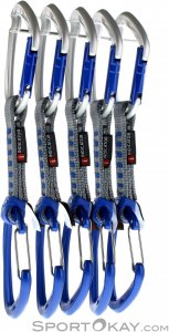 Mammut 5er-Pack Crag Indicator Wire Expressschlingen-Set-Blau-One Size