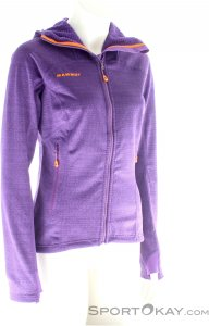 Mammut Eiswand Guide ML Hooded Jacket Damen Tourensweater-Lila-XS