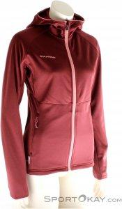 Mammut Get Away ML Fleece Damen Outdoorsweater-Rot-XL