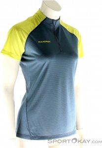 Mammut Illiniza Light Zip T-Shirt Damen Funktionsshirt-Blau-L