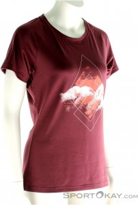 Mammut Mountain Shirt Damen T-Shirt-Rot-M