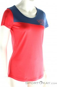 Ortovox Cool Logo Damen T-Shirt-Pink-Rosa-L