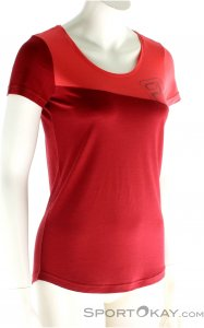 Ortovox Cool Logo Damen T-Shirt-Rot-L