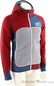Ortovox Fleece Plus Hoody Herren Tourensweater-Rot-L