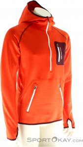 Ortovox MI Fleece Zip Neck Hoody Herren Outdoorsweater-Orange-XL