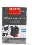 Klickfix Contour Max Adapter Satteltasche Zubehör-Schwarz-One Size