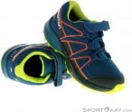 Salomon Speedcross CSWP K Kinder Traillaufschuhe-Blau-27