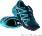 Salomon Speedcross CSWP Kinder Traillaufschuhe-Blau-32