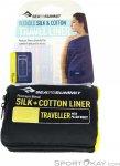 Sea to Summit Silk+Cotton Traveller Baumwollinlett-Dunkel-Blau-One Size