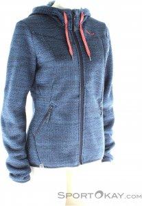 Salewa Fanes PL Zip Hoody Damen Outdoorsweater-Blau-M