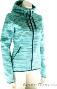 Salewa Fanes PL Zip Hoody Damen Outdoorsweater-Türkis-40
