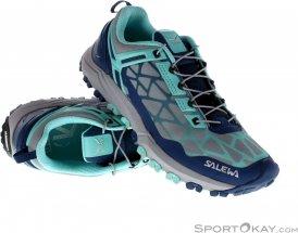 Salewa Multi Track Damen Traillaufschuhe-Blau-7,5
