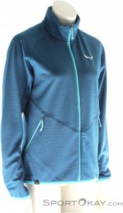 Salewa Puez Melange PL Damen Outdoorsweater-Blau-36