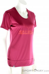 Salewa Puez Mountain Dry SS Tee Damen T-Shirt-Lila-M