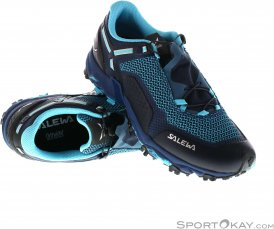 Salewa Ultra Train 2 Damen Traillaufschuhe-Blau-6