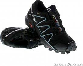 Salomon Speedcross 4 GTX Damen Traillaufschuhe Gore-Tex-Schwarz-6,5