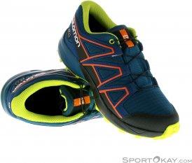 Salomon Speedcross CSWP J Jungen Traillaufschuhe-Blau-36