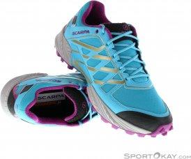 Scarpa Spin Damen Traillaufschuhe-Blau-38,5