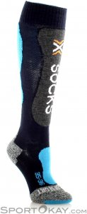 X-Bionic Ski Comfort Supersoft Damen Skisocken-Blau-37-38