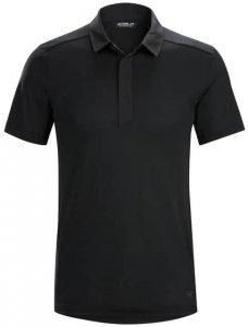 Arcteryx A2B SS Polo Mens Herren (Schwarz L INT ) | Bekleidung Shirts Merinoshirts