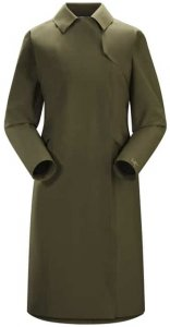 Arcteryx Nila Trench Coat Womens´s Damen (Oliv S INT ) | Bekleidung Jacken Gore-Tex-Jacken