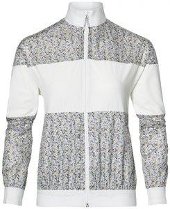 Asics LP Print Wind Jacket Damen (Weiß S INT )   Bekleidung Jacken Windjacken