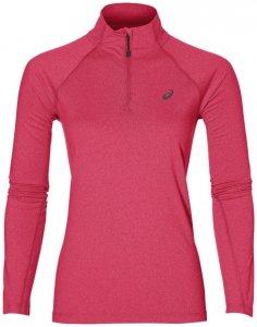 Asics LS 1 2 Zip Jersey Damen (Pink L INT )   Bekleidung Shirts Longsleeves