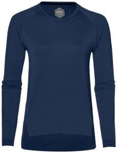 Asics Seamless LS Damen (Dunkelblau XS INT )   Bekleidung Shirts Longsleeves