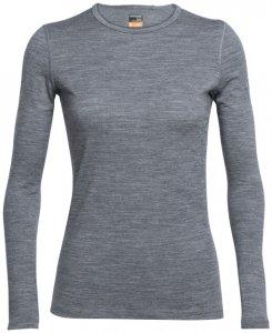 Icebreaker Wmns Oasis LS Crewe Damen (Anthrazit M INT ) | Bekleidung Shirts Merinoshirts