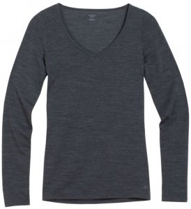 Icebreaker Wmns Siren LS Sweetheart Damen (Anthrazit S INT ) | Bekleidung Shirts Merinoshirts