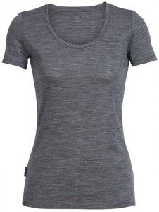 Icebreaker Wmns Tech Lite SS Scoop Damen (Grau M INT )   Bekleidung Shirts Funktionsshirts