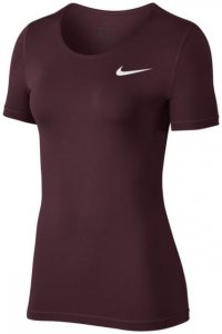 Nike W NP Top SS All Over Mesh Damen (Beere XL INT )   Bekleidung Shirts Funktionsshirts