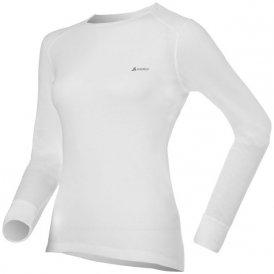 Odlo WARM Shirt l s crew neck W Damen (Weiß L INT ) | Bekleidung Unterwaesche Funktionsunterhemden
