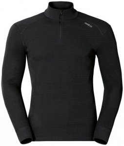 Odlo WARM Shirt l s turtle neck 1 2 zip M Herren (Schwarz XL INT )   Bekleidung Unterwaesche Funktionsunterhemden