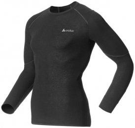 Odlo X-WARM Shirt l s crew neck M Herren (Schwarz XL INT ) | Bekleidung Unterwaesche Funktionsunterhemden