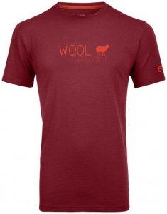 Ortovox 150 Cool World Print Men Herren (Beere M INT )   Bekleidung Shirts Merinoshirts