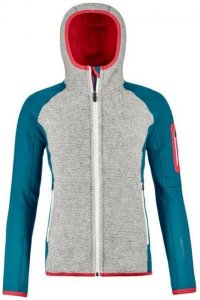 Ortovox Fleece Plus Classic Knit Hoody Women Damen (Petrol M INT ) | Bekleidung Jacken Isolationsjacken