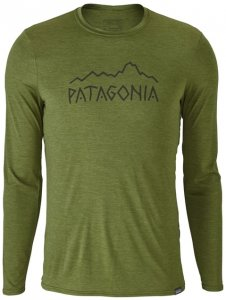 Patagonia Ms Cap Daily L S Graphic T-Shirt Herren (Grün L INT ) | Bekleidung Shirts Funktionsshirts