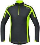 Gore Running Wear Air Zip Shirt lang Herren (Gelb XL INT ) | Bekleidung Shirts F