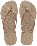 Havaianas Slim Damen (Gold 41-42 Gr. )   Schuhe Badeschuhe