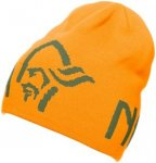 Norröna 29 Logo Beanie Uni (Orange S INT ) | Bekleidung Accessoires Muetzen