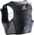 Salomon ACTIVE SKIN 8 SET-Ebony-Black- Trinkrucksack Trinkrucksäcke XL Normal