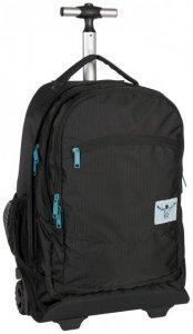 Chiemsee Urban Solid 2-Rollen Trolley Rucksack 52 cm Laptopfach black, Gr. Cabin (bis 56 cm)