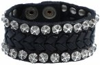 Campomaggi Armband Leder 20 cm black