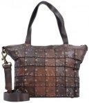 Campomaggi Rivetti Vacch Handtasche Leder 26 cm moro