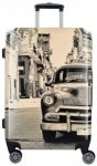 Fabrizio Design 4-Rollen Trolley 68 cm mit Doppelrollen Kuba, Gr. L (65-70 cm)