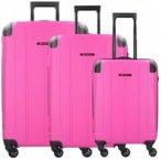 Franky Munich 4-Rollen Kofferset 3tlg. pink, Gr. XL (71-80 cm)