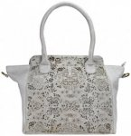 Greenland Femi & Nine Ladies Bag Handtasche Leder 44 cm grey