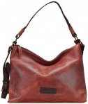 Harold's Stag Schultertasche Leder 40 cm rot