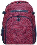 Samsonite Rewind Rucksack 45 cm Laptopfach capri red stripes